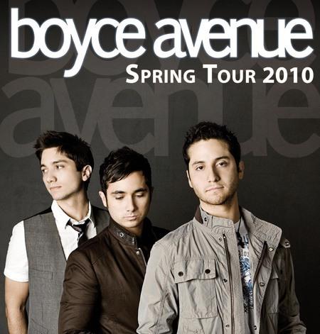 Boyce Avenue: Spring Tour 2010