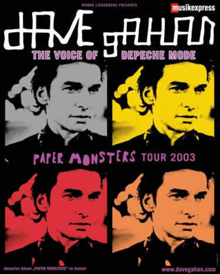Dave Gahan: Paper Momsters Tour 2003