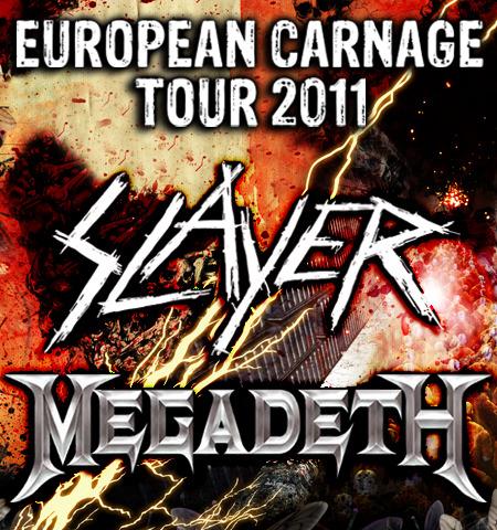 Slayer & Megadeth: European Carnage Tour 2011
