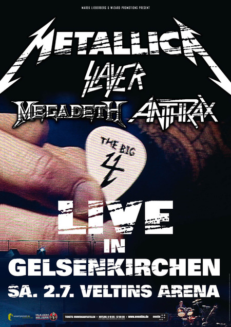 Metallica - The Big 4: Slayer / Megadeth / Anthrax - 2011