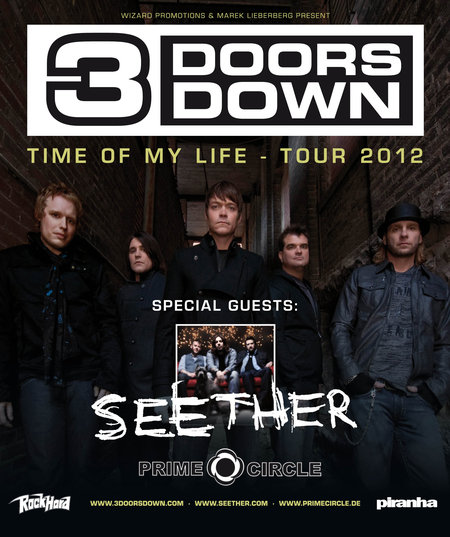 3 Doors Down: Time Of My Life – Tour 2012
