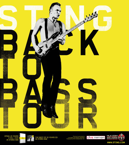 Sting: Back To Bass Tour - 2012