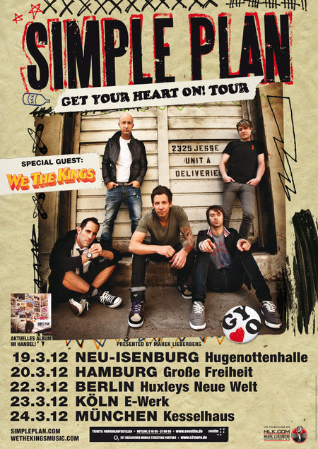 Simple Plan: Get Your Heart On! Tour 2012