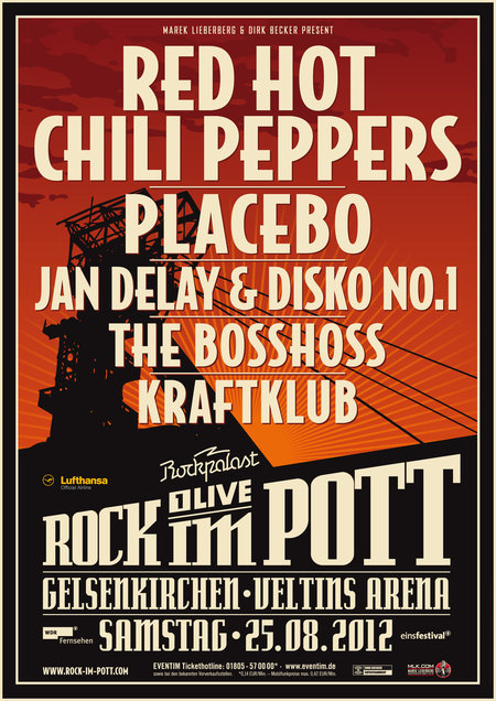 Rock im Pott: Red Hot Chili Peppers, Placebo, u.a. - 2012