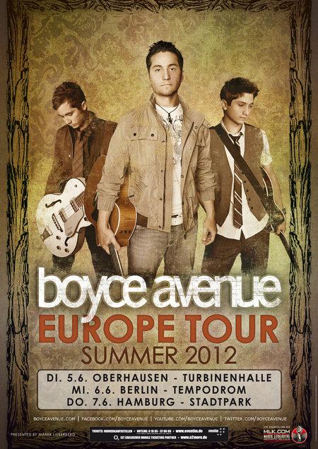 Boyce Avenue: Europe Tour Summer 2012
