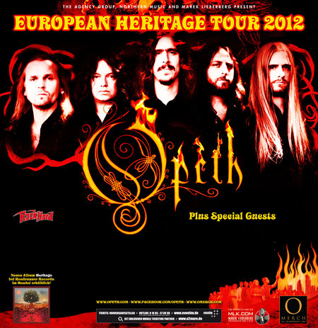 Opeth: European Heritage Tour 2012