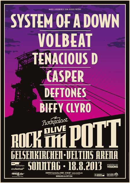 Rock im Pott: System Of A Down, Volbeat, Tenacious D. u.a. - 2013
