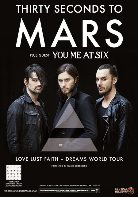 Thirty Seconds To Mars: Love Lust Faith + Dreams World Tour 2013