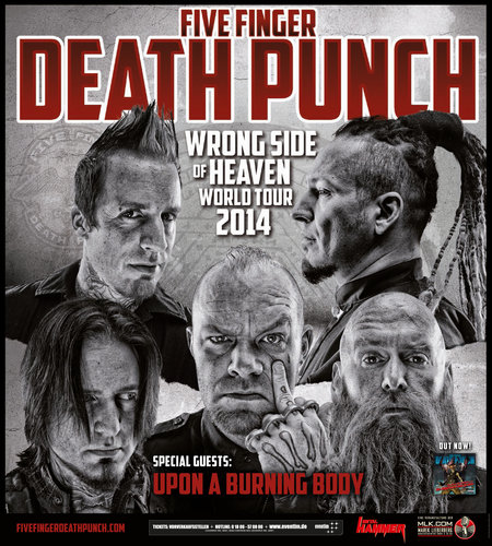 Five Finger Death Punch: Wrong Side Of Heaven World Tour 2014
