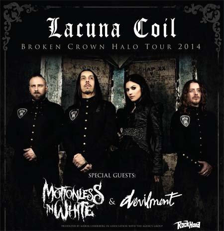 Lacuna Coil: Broken Crown Halo Tour 2014