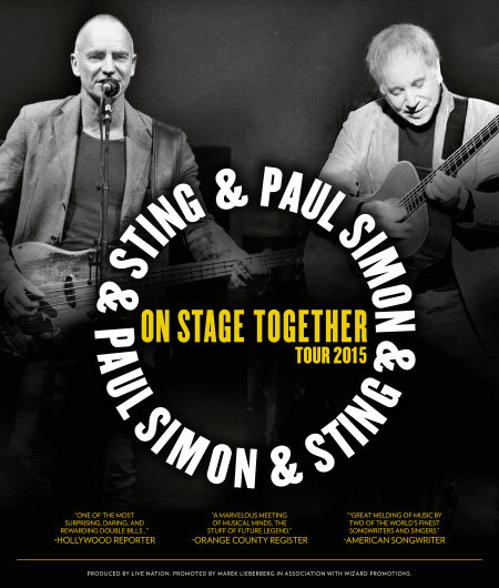 Paul Simon & Sting: On Stage Together - Tour 2015
