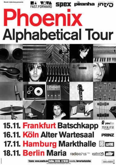 Phoenix: Alphabetical Tour 2004