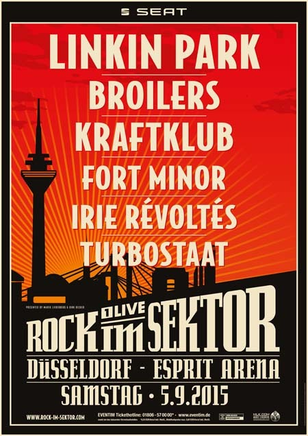 Rock im Sektor: Linkin Park, Broilers, Kraftklub, Fort Minor, Irie Révoltés & Turbostaat - 2015