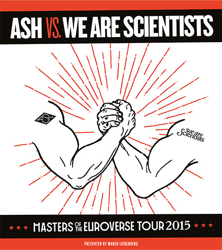 We Are Scientists & Ash: Masters Of The Euroverse Tour 2015