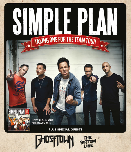 Simple Plan: Taking One For The Team Tour 2016