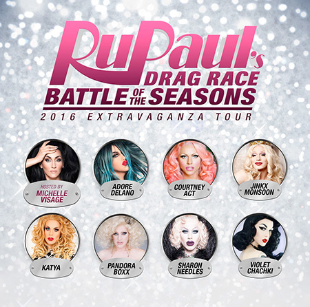 "Ru Paul's Drag Race: ""Battle of the Seasons""-Tournee 2016"
