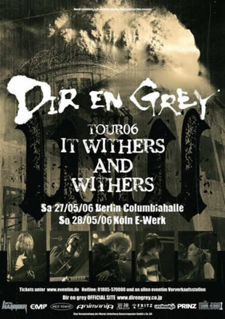Dir En Grey: It Withers and Withers Tour 2006