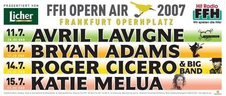 FFH Opern Air: B. Adams, A. Lavigne, R. Cicero, K. Melua